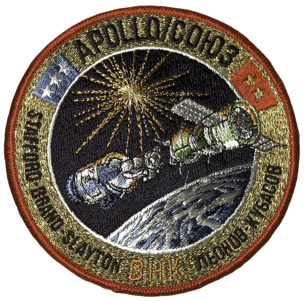 A special edition Apollo-Soyuz custom patch.