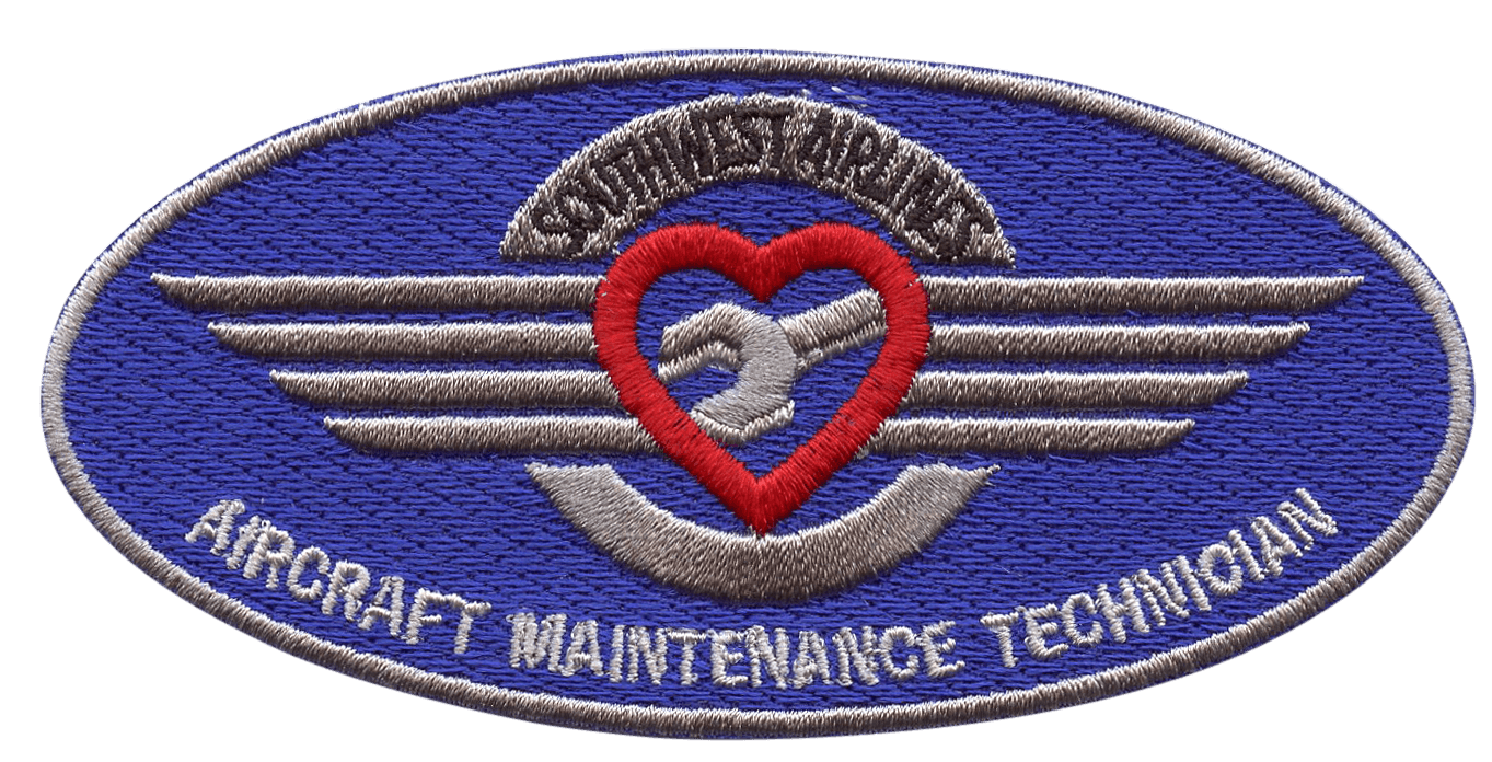 A custom patch for Southwest Airlines - Aircraft Maintenance Technician
