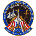 An embroidered emblem created in honor of the final Space Shuttle mission.