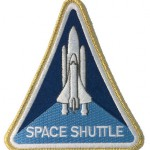Embroidered NASA space shuttle program patch